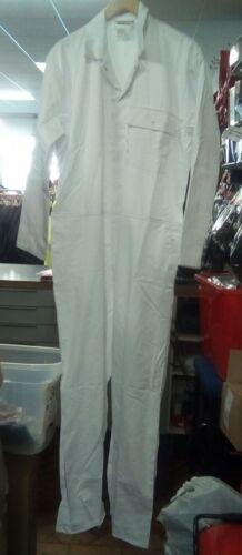 Homme Peintre Décorateur Boilersuit 46 Stud Front White Overall PPE À faire soi-même en polycoton
