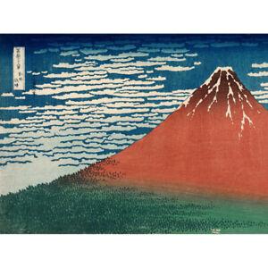 Katsushika-Hokusai-Fine-Wind-Red-Fuji-Canvas-Art-Print-Poster