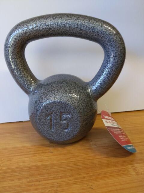 Weider 10LB Hammertone Cast Iron Kettlebell Kettle Bell Free Weight