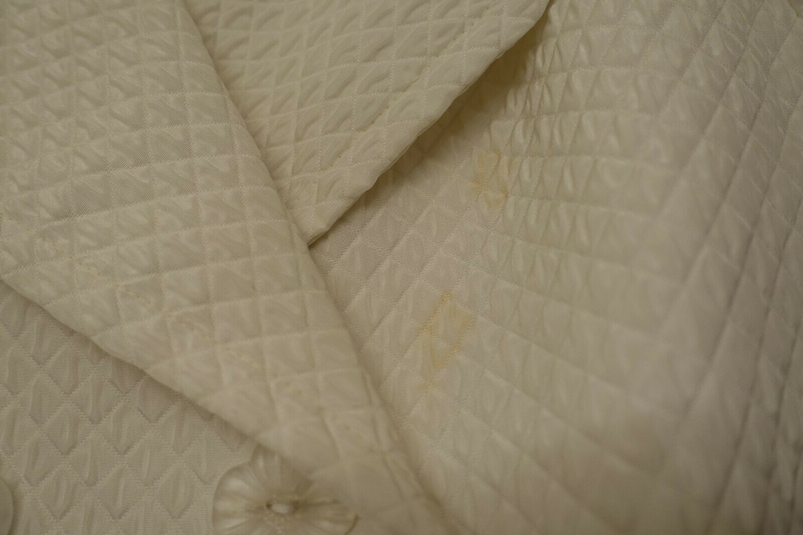 ANNA SUI VINTAGE 1990S WHITE QUILTED WIDE COLLAR … - image 6