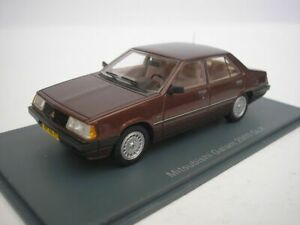 Mitsubishi Galant 2000 Glx A160 1981 Métal Marron Neo 44000 1/43 Brun Résine