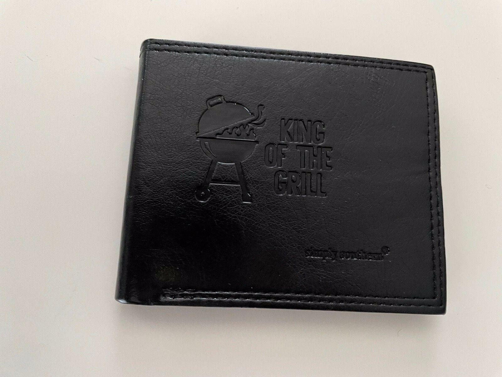 Men's Simply Southern Leather Wallet King of the Grill New