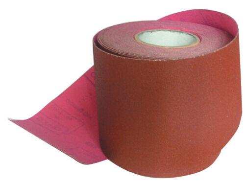 1 mt carta abrasiva resinata velcrata vetro RRB corindone rosso gr 180