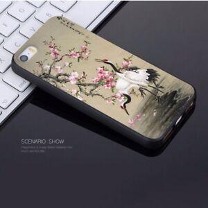Arte-japones-Sakura-amp-Cranes-caso-iPhone-5-5S-SE-6-6S-7-8-Plus-XS-XR-MAX-X