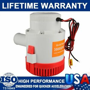 New 3000GPH 12V Electric Marine Submersible Bilge Sump Water Pump for Boat Yacht