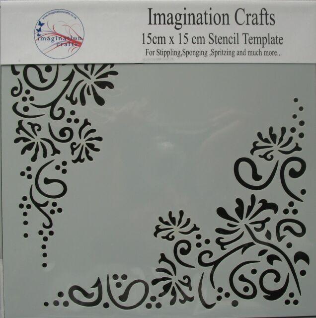 "Imagination Crafts MASK Stencil template 6"" x 6"" (15cm ) HONEYSUCKLE"