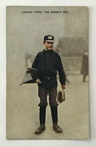 Photochrom-Co-Postcard-London-Types-The-Orderly-Boy-Celesque-Series-vtg-AA