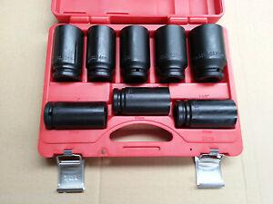 JIMY-TOOLS-8Pc-3-4-034-Inch-Dr-DEEP-IMPACT-SOCKET-SET-27-41mm-Cr-Mo