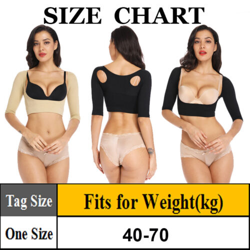 Women Sleeves Upper Arm Shaper Post Surgical Slimming Compression Tops Seamless