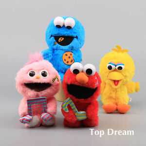 Limited-Sesame-Street-Elmo-Cookie-Monster-Moppy-Big-Bird-Plush-Toy-Doll-9-039-039-Cute