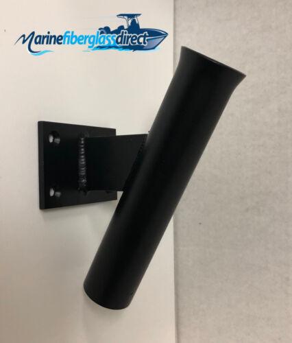 """9/"""" Boat Fishing Pole Rod Holder 15 Degrees Transom BLACK POWDER COATED"""