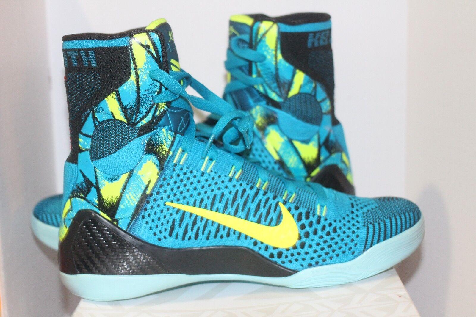 Nike Kobe IX 9 Size 10 DS DS DS Prespective Volt Neon Turq W Receipt dea137