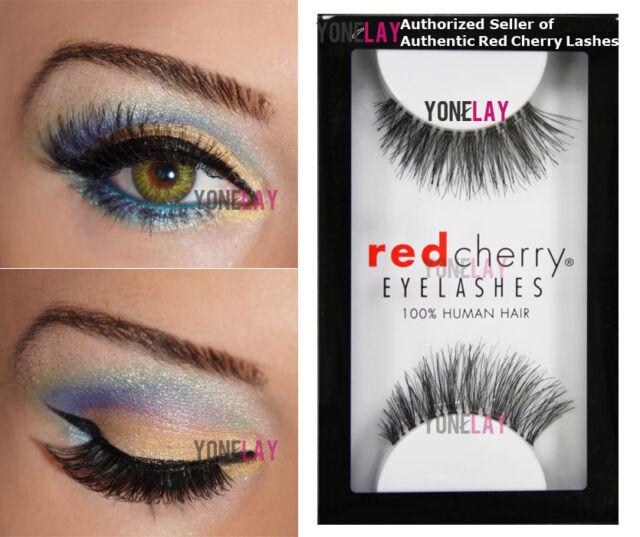 294813f9491 1 Pair GENUINE RED CHERRY #43 Stevi False Eyelashes Human Hair Fake Eye  Lashes