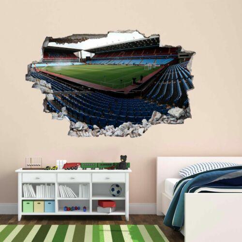 Football Stadium Villa Park 3D Wall Sticker Mural Decal Kids Bedroom Decor BV37