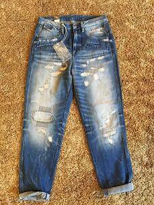 G-Star-Davin-3D-High-Boyfriend-Women-Jeans-Size-27-Length-34