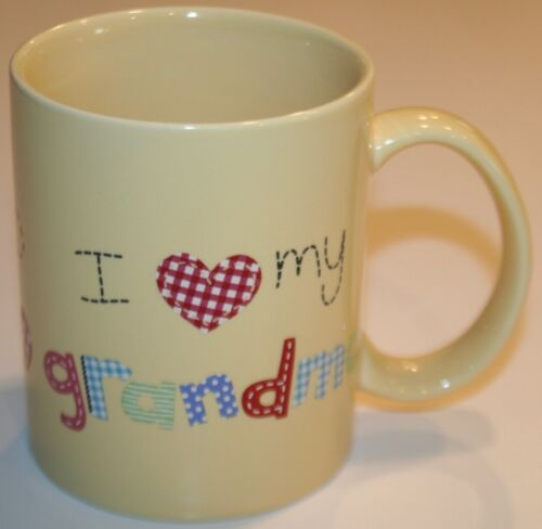 """I LOVE MY GRANDMA"" COFFEE MUG CHILDS WRITING AND DRAWING"