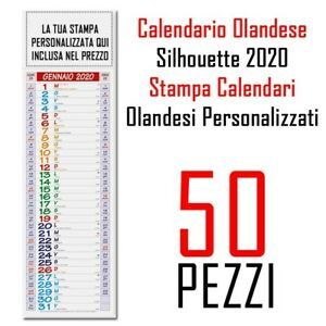 Natale 2021 Calendario.Calendario Silhouette 2021 Personalizzato Stampa Colori Gadget Natale 50 Pezzi Ebay