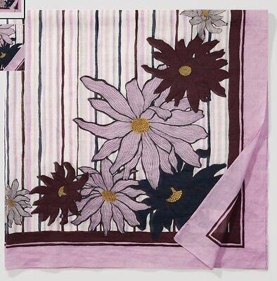 "NWT Ann Taylor LOFT Blossom Square Scarf  $35   41/"" X 41/""    # 418661 Purple"