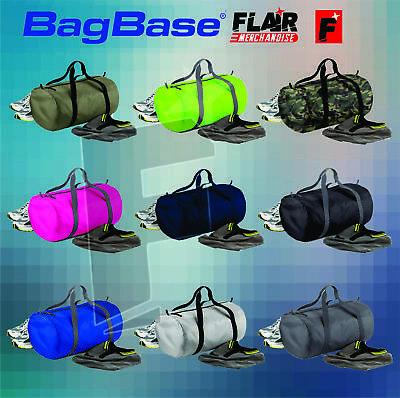 Bagbase Packaway Barrel Bag, 15-colour Travel Fitness Bag
