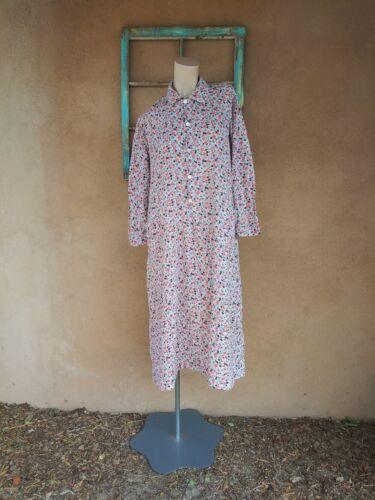 VTG 1930s Calico Feedsack Dress Cotton Dressing Go