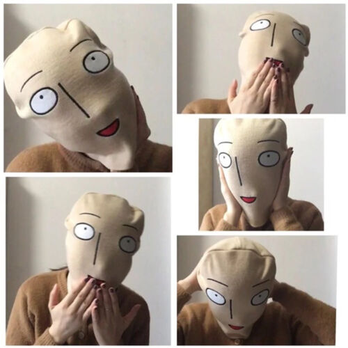 Anime ONE PUNCH MAN Saitama Cosplay Shaven Head Cap Hat Cosplay Tricky Prop Mask