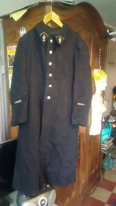 Manteau-de-Gendarme-epoque-guerre-Indo-D-039-Algerie-Adjudant-superbe-Vintage