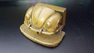 Vw beetle brass effect car business card holder ebay image is loading vw beetle brass effect car business card holder reheart Image collections