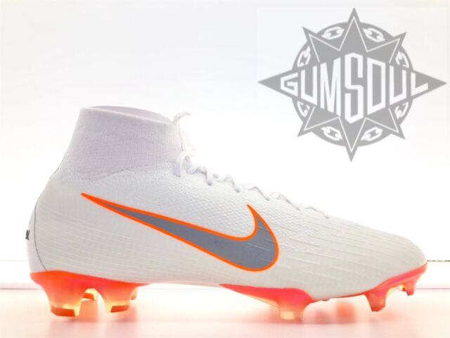 a13e89d3363 NIKE MERCURIAL SUPERFLY 6 VI ELITE FG SOCCER CLEATS AH7365 107 WHITE GREY  10.5