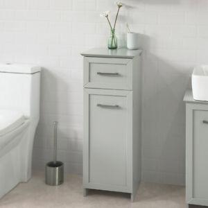Détails sur SoBuy® Meuble Colonne Meuble Bas de Salle de Bain Armoire  Toilette BZR11-HG,FR