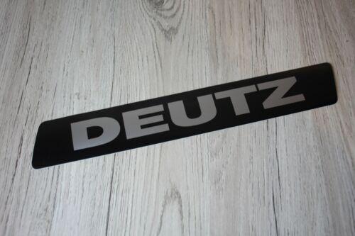 Kabine für 06 Baureihe 33x5cm Sticker Label Deutz silber Aufkleber Kotflügel o