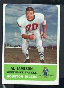 1962-Fleer-Football-Card-50-Al-Jamison-Houston-Oilers