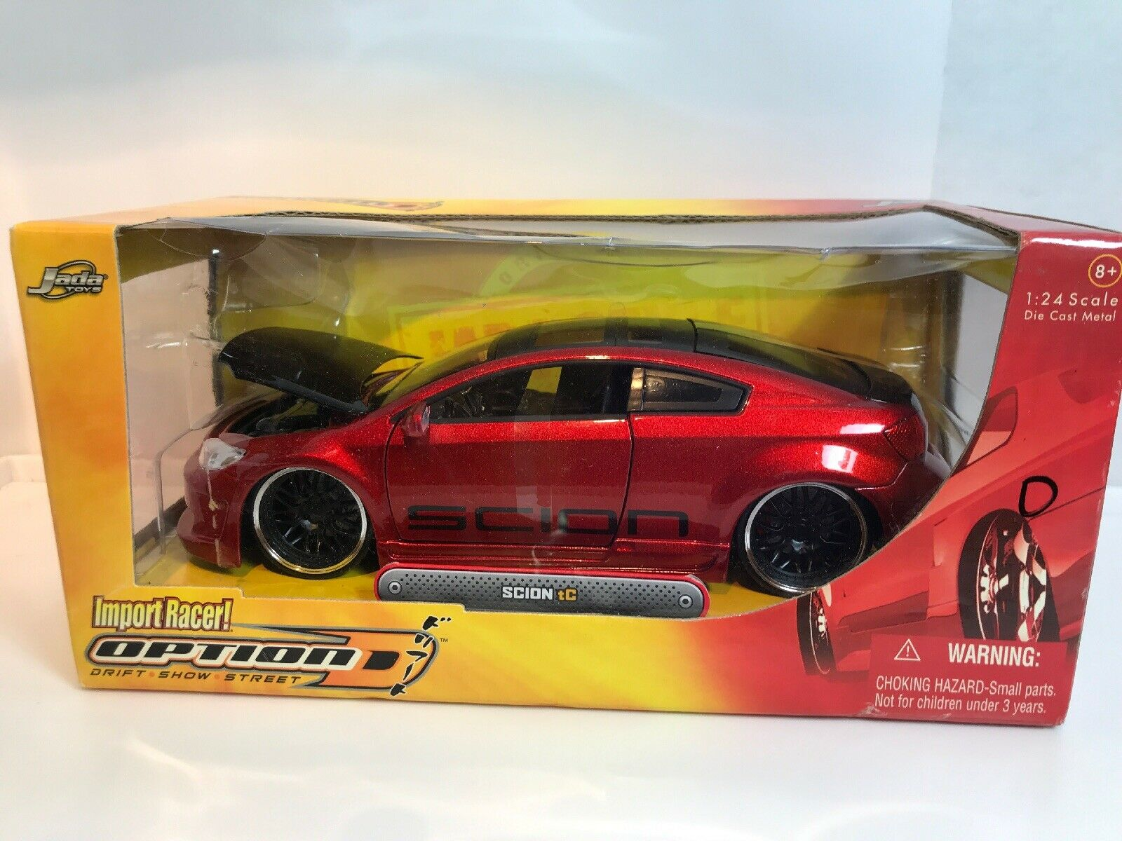 Scion TC rosso Jada Toys Import Racer Drift mostrar Street opción D 1 24 Diecast