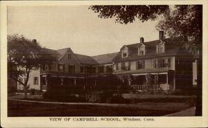 Windsor-CT-Campbell-School-c1910-Postcard