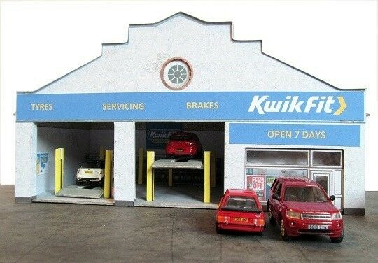 Kingsway, 00 scale, Newark tyre centre,  Kit build service.