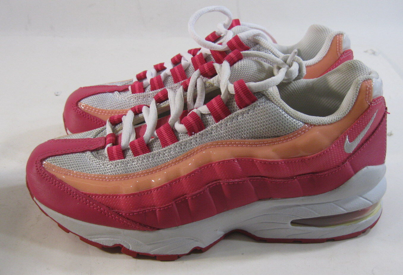 Nike Air Max '95 Le (Gs) Girls Running Shoes 310830-166 White/-Cherry Size 5Y