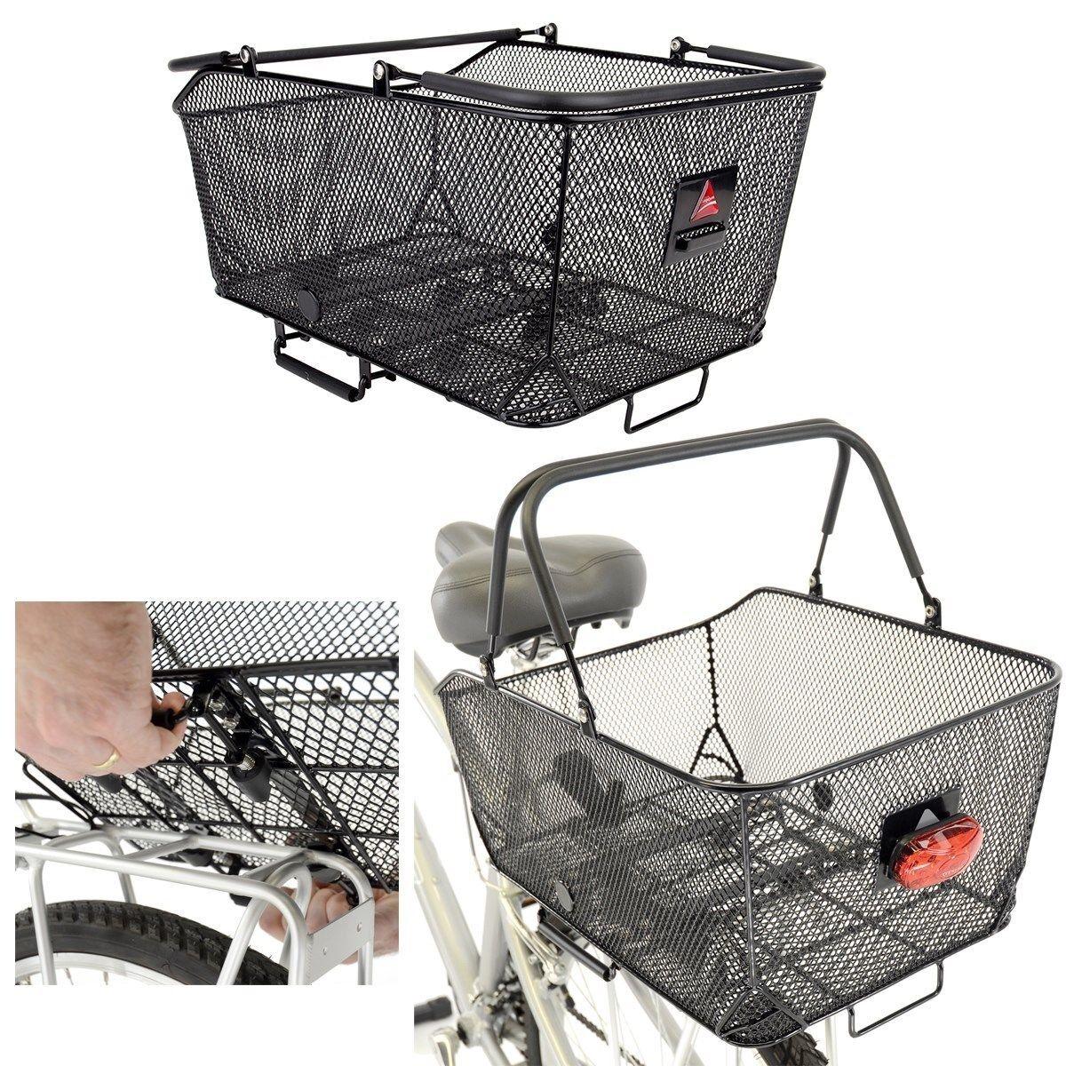 Axiom Mercado Cesta lx-17.7 x12.2 x9,84   - negro-rear-bicycle basket-new