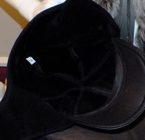 Herren Lammfellmütze Super Echt Leder  mit  Nackenschutz L,XL NEU