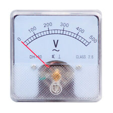 1pc Dh 60 Rectangle Plastic Analog Voltmeter Voltage Meter Ac 0 500v Class 25