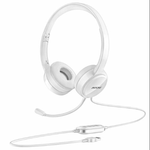 Mpow 071 USB Headset w// 3.5mm Jack Computer Wired Headphones for PC Skype Phone