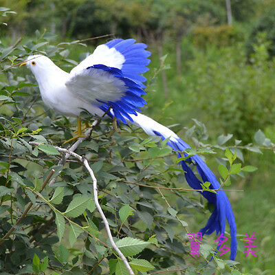 simulation wings Phoenix Bird toy plastic/&furs long tail bird gift about 50cm