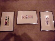 Set of 3 framed Matisse papercut reproductions