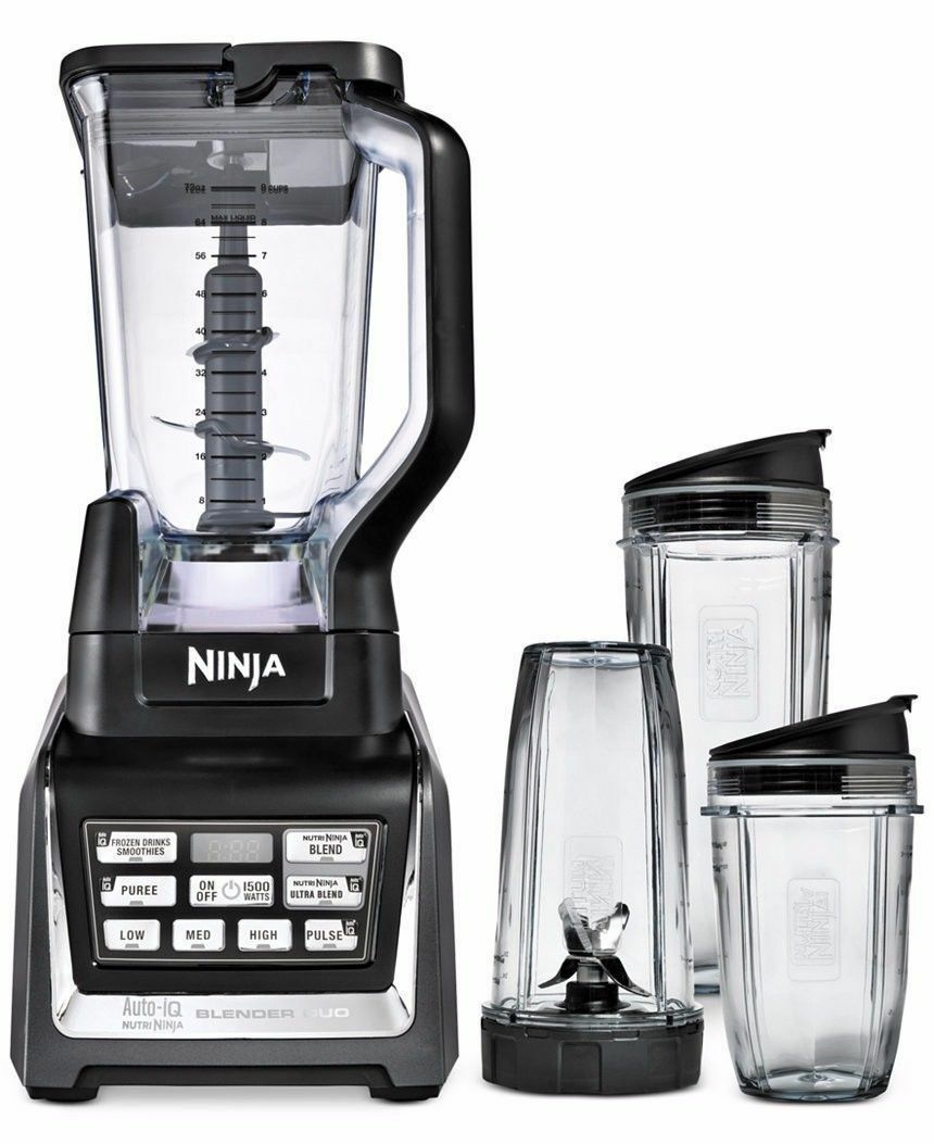 Nutri Ninja 1500 W 72 oz (environ 2041.13 g) Ninja Blender duo avec auto-IQ et tasses   BL642