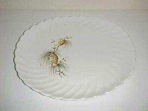 Salem China Salem Swirl Pine cone Pattern Oval Serving Platter | eBay