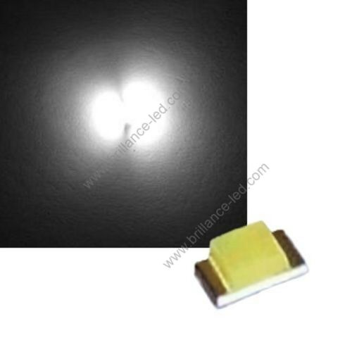 100x LED CMS SMD 0805 White Pur To Soldering PLCC-2 Pure White High Brightness