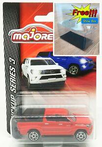 Majorette-Toyota-Hilux-Revo-Cap-Red-Series-3-1-58-292K-Free-Display-Box