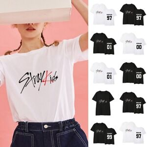 eb6d090a9a572 KPOP Stray Kids T-Shirt The HYUNJIN Women Men Letter Tee CHANGBIN ...