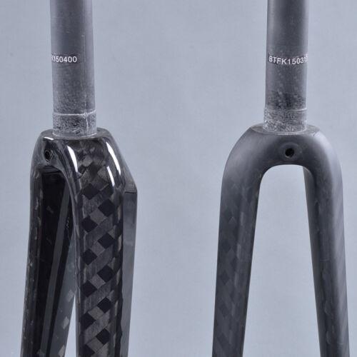 Carbon Fork 700C Road bicycle fork UD//12k 1-1//8 V Brakes road bike front fork