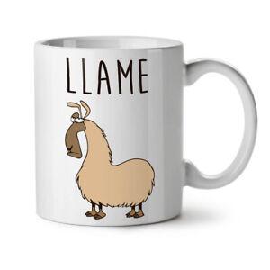 Llama Lame Cute NEW White Tea Coffee Mug 11 oz   Wellcoda