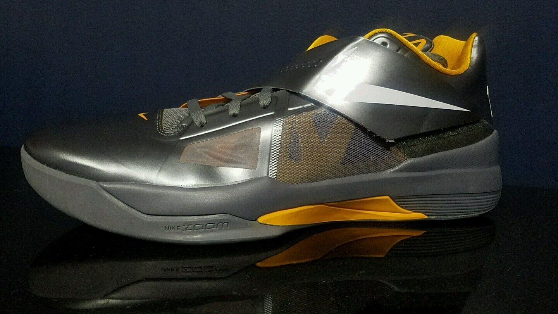 Nike zoom kd iv nero / giallo uomini scarpe da basket 473679007 dimensioni 18 nuovi