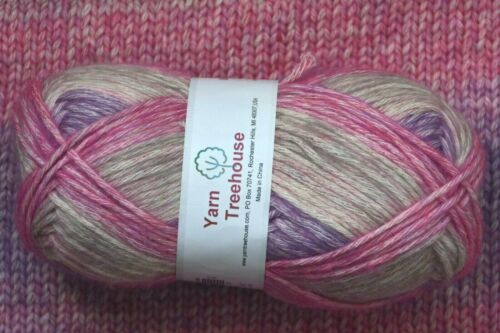 10 35/% Acrylic worsted weight color change knitting yarn 65/% Cotton